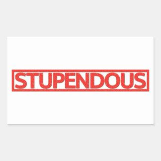 Stupendous Stamp Rectangular Sticker