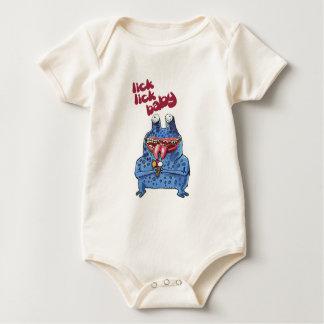 stupid alien cartoon style funny illustration baby bodysuit