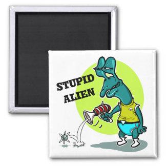 stupid alien cartoon style funny illustration magnet