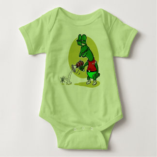 stupid alien shoot single electron cartoon baby bodysuit