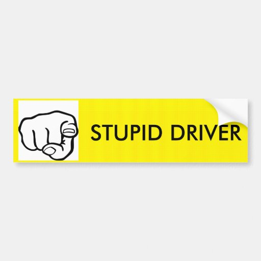 STUPID DR... CAR BUMPER STICKER