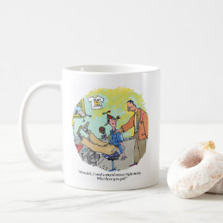 Stupid Excuse right hand cartoon mug