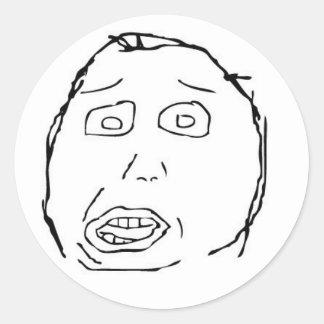 Stupid Face Sticker
