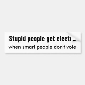 Stupid People Smart People Bumper Sticker