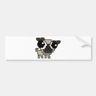 stupid pixel pug bumper sticker