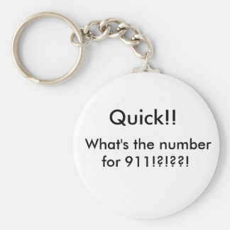 Stupid Question Basic Round Button Key Ring
