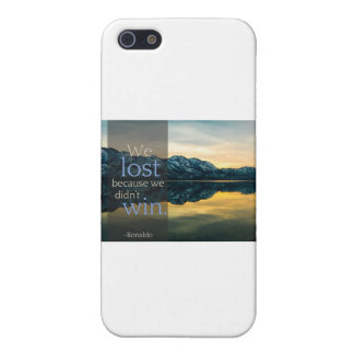 "Stupid Quotes ""We lost because we didn't win"" iPhone 5 Covers"