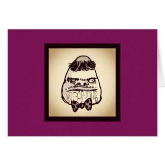 stupid troll face with bow tie funny cartoon card