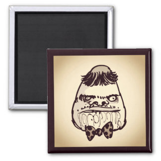 stupid troll face with bow tie funny cartoon magnet