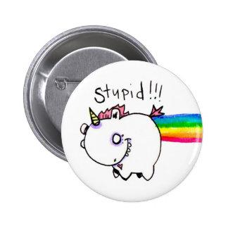 Stupid Unicorn by Emi Boz 6 Cm Round Badge