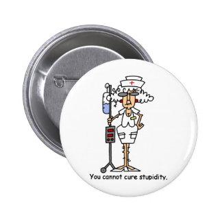 Stupidity! 6 Cm Round Badge