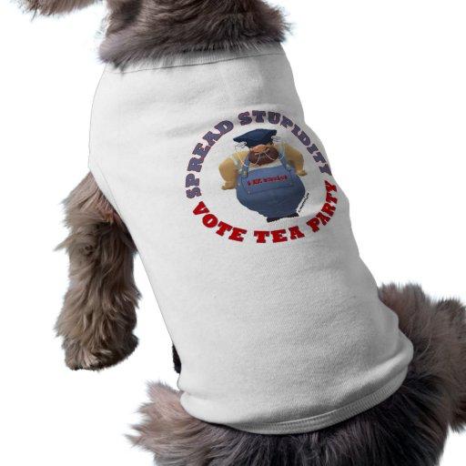 Stupidity Vote TEA Button Pet Tee