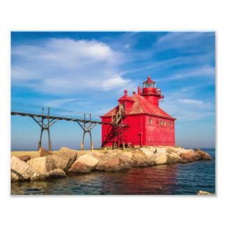 Sturgeon Bay Lighthouse Pier Photo Print