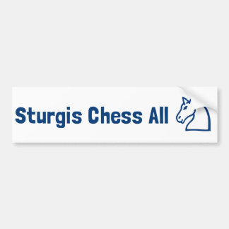 Sturgis Chess All Knight Bumper Sticker