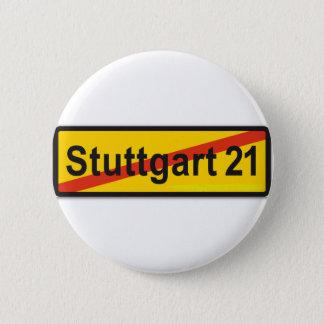 Stuttgart 21 6 cm round badge