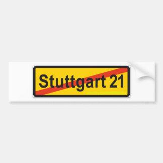 Stuttgart 21 bumper sticker