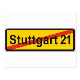 Stuttgart 21 postcard