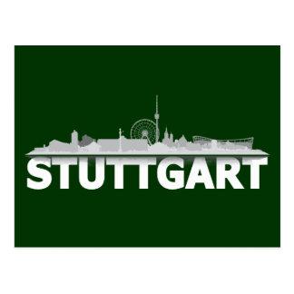 Stuttgart city of skyline - postcard