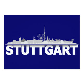 Stuttgart city of skyline - postcard/folding map card