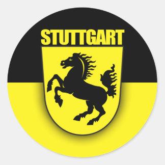 Stuttgart Classic Round Sticker