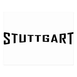 stuttgart deutschland icon postcard