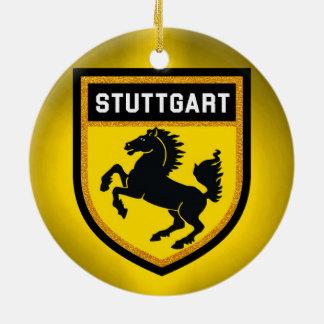 Stuttgart Flag Ceramic Ornament