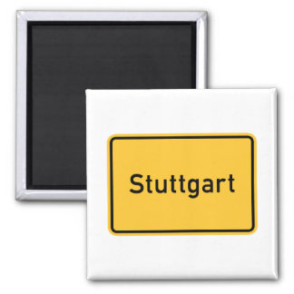Stuttgart, Germany Road Sign Magnet