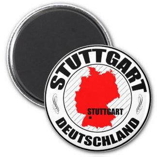 Stuttgart Stamp A002 6 Cm Round Magnet