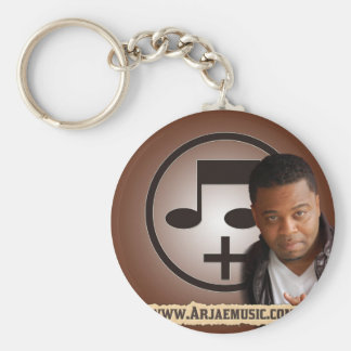 Style 4 Design  Arjae Matthews Collection Basic Round Button Key Ring