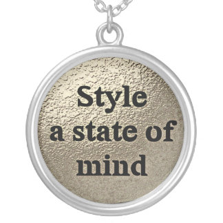 Style a state or mind - collar silver plated necklace