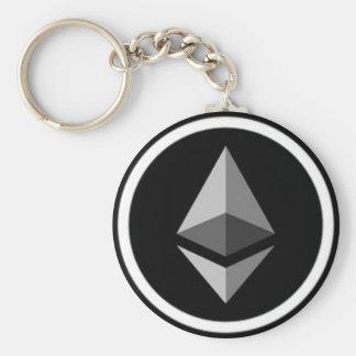 Style: Basic Button Keychain with Ethereum Logo