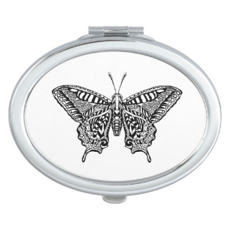Style Butterfly Compact Mirrors