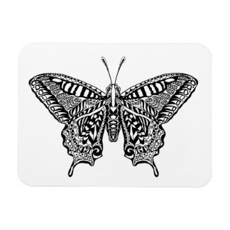 Style Butterfly Rectangular Photo Magnet