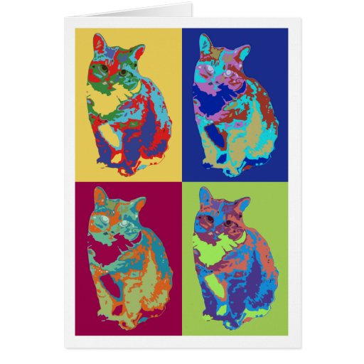 Style Cat Greeting Card