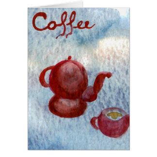Style Coffee Rounded CricketDiane Coffee Art Greeting Card