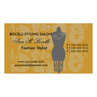 Style  Fashion Artist Goddess Stylist Pack Of Standard Business Cards