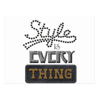 Style Is Everything Postcard
