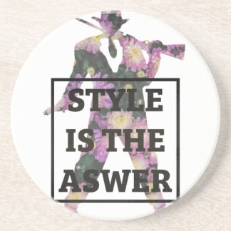 Style Is The Answer Flowers Coasters