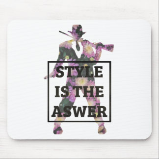 Style Is The Answer Flowers Mouse Pad
