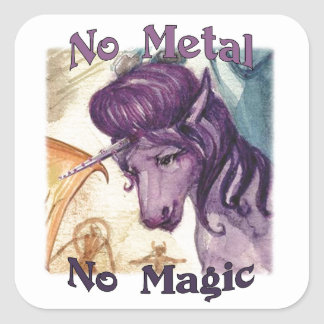 Style No Metal No Magic Stickers