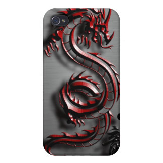 Style of the red dragon case for iPhone 4