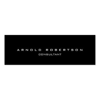 Style Plain Slim Black Professional Business Card
