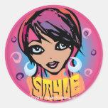 Style round sticker from StyleStickers™