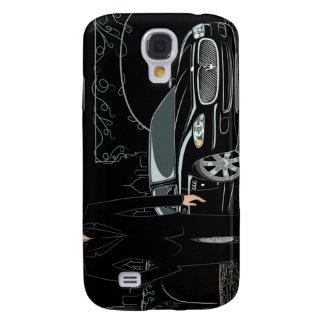 Style Sleek ( Black ) iphone 3 Samsung Galaxy S4 Cases