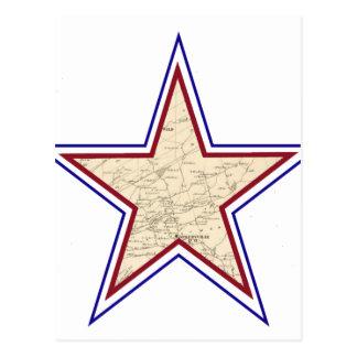 Style Star Map Postcard