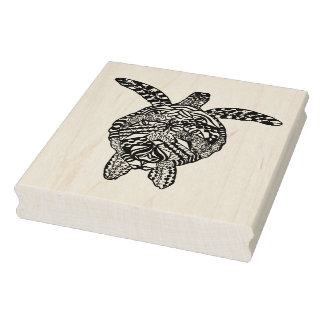Style Turtle Rubber Stamp