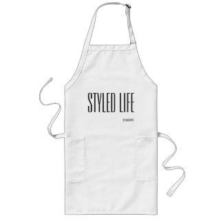 Styled Life Long White Apron