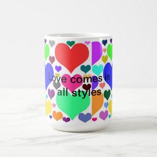 Styles of Love Coffee Mug