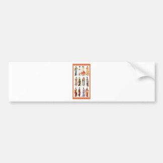 Styles_of_Sari vintage print Bumper Sticker