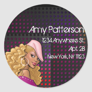 Stylin' City Girl :: Return Address Label Stickers